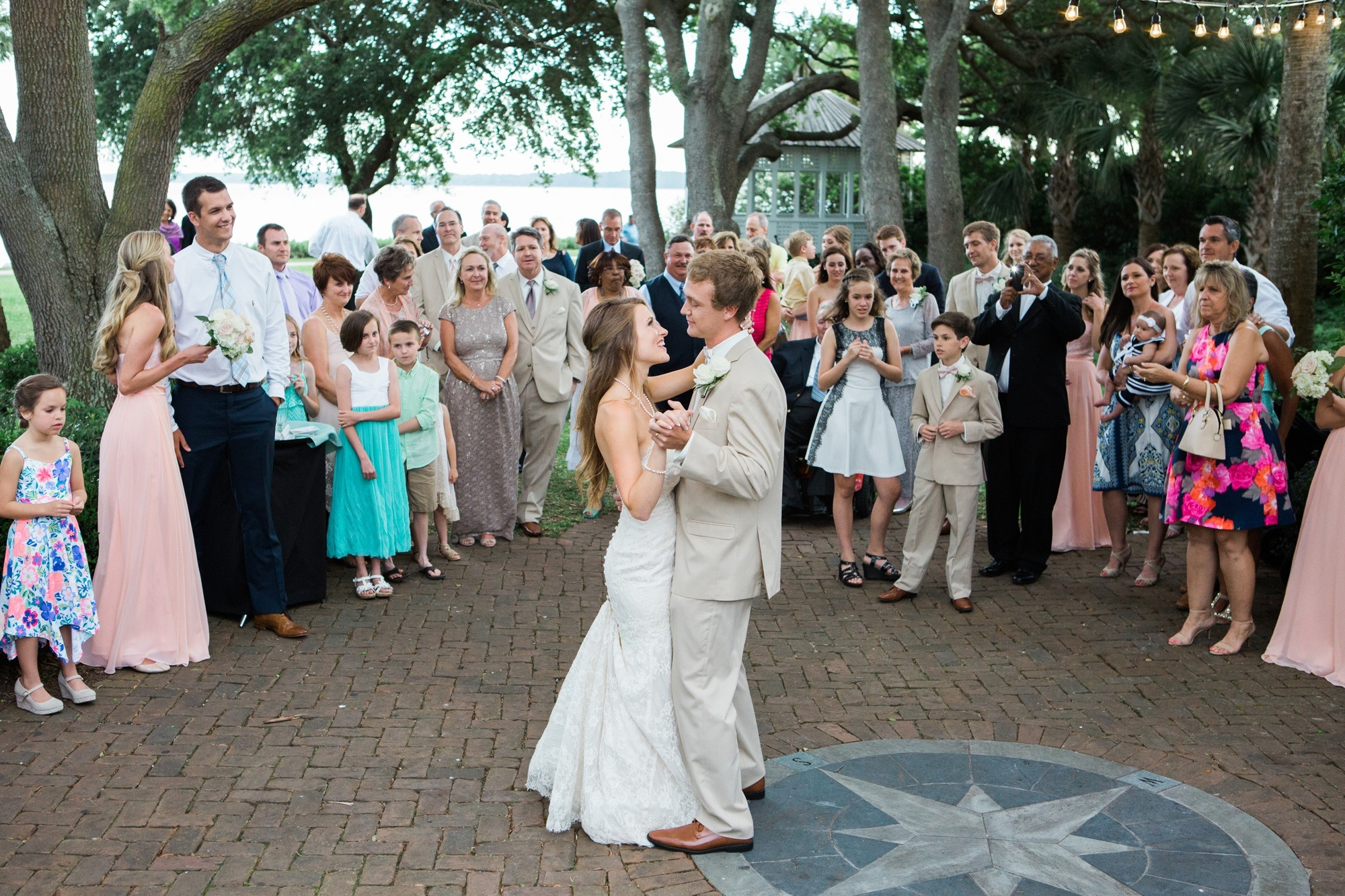 first dance A.W. Jones Heritage Center courtyard