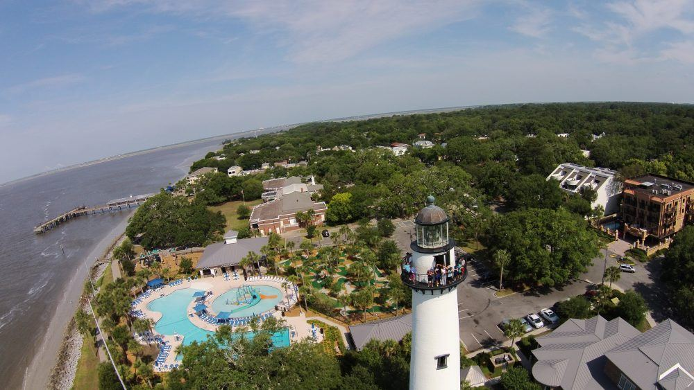 Ariel view St. Simons Lighthouse